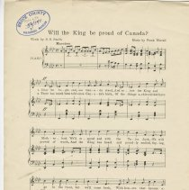 Image of Will the King be proud of Canada [music] : Canadian military song, page 1