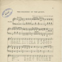 Image of Page 3, The soldiers of the Queen [music]