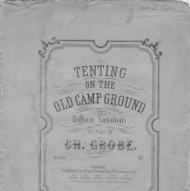 Image of Tenting on the old camp ground, Title Page