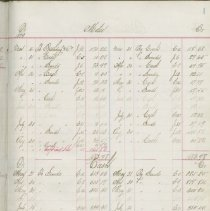 Image of H. Charlton Ledger, page 1 (sample page of 48 pages)