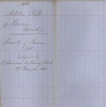 Image of A987.032.015 - Militia roll for the Counties of Huron and Bruce : Huron Township, County of Bruce, 1865