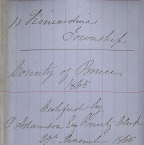 Image of A987.032.016 - Militia roll for the Counties of Huron and Bruce : Kincardine Township, County of Bruce, 1865