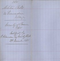 Image of A987.032.017 - Militia roll for the Counties of Huron and Bruce : Kincardine Village, County of Bruce, 1865