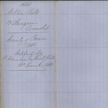 Image of A987.032.019 - Militia roll for the Counties of Huron and Bruce : Saugeen Township, County of Bruce, 1865