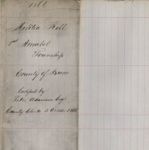 Image of A987.032.022 - Militia roll for the Counties of Huron and Bruce : Amabel Township, County of Bruce, 1866