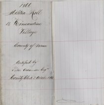 Image of A987.032.031 - Militia roll for the Counties of Huron and Bruce : Kincardine Village, County of Bruce, 1866