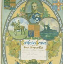 Image of Certificate of Service in the Great European War : D. Stewart Finlayson