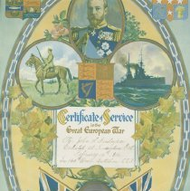 Image of John Finlayson certificate of service
