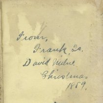 Image of Inscription Page, New Testament given to David Brown Milne