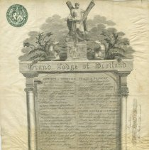 Image of Grand Lodge of Scotland certificate to Thomas Bonthron