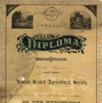Image of Kinloss Agricultural Society diploma to Ken Cameron