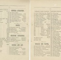 Image of Southampton Mechanics' Institute catalogue, pages 21-22
