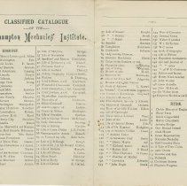 Image of Southampton Mechanics' Institute catalogue, pages 1-2