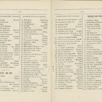 Image of Southampton Mechanics' Institute catalogue, pages 14-15