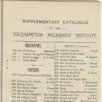 Image of Southampton Mechanics' Institute catalogue, page 18