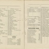 Image of Southampton Mechanics' Institute catalogue, pages 19-20