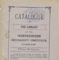 Image of Southampton Mechanics' Institute catalogue, front cover