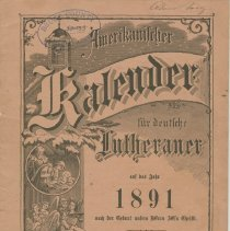 Image of A957.018.007:  1891 Amerikanilcher Kalender, front cover