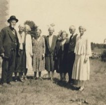 Image of At Sam Pruder's, Sunday August 17, 1930