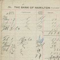 Image of Pages 2-3, Bank of Hamilton bankbook for Southampton Library