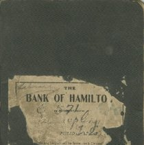 Image of Cover, Bank of Hamilton bankbook for Southampton Library