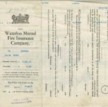 Image of Ax2011.121.016, Waterloo Mutual Fire Insurance Policy, top reverse side