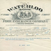 Image of Ax2011.121.016, Waterloo Mutual Fire Insurance Policy, front side