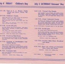 Image of Southampton Centennial Program, page 3