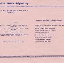 Image of Southampton Centennial Programme, page 4