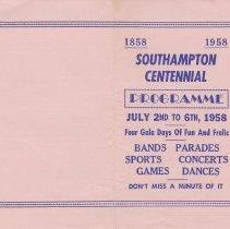 Image of A958.028.001 - Southampton Centennial programme