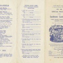 Image of Lucknow Centennial Program, 1958 (1st side)