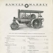 Image of Sawyer Massey Ltd. Road Building Machinery Catalog, page 2 (sample page)
