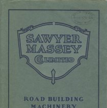Image of Sawyer Massey Ltd. Road Building Machinery Catalog, front cover