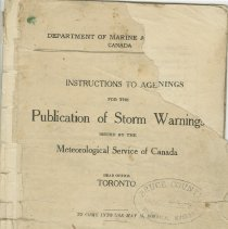 Image of Instructions to Agents for the Publication of Storm Warnings, page 1