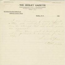 Image of Hedley Gazzette correspondence to Norman Robertson, page 2