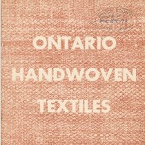 Image of Ontario Handwoven Textiles, front cover