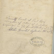Image of A958.037.001 - Minute book of Red Bay Association of Patrons of Industry