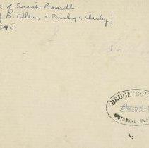 Image of Sarah Burrell Sketchbook, inside cover