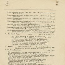 Image of Citizens' Victory Service order of service, page 3