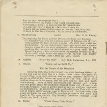 Image of Citizens' Victory Service order of service, page 4