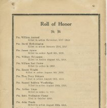 Image of Citizens' Victory Service order of service, page 8