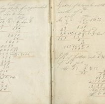 Image of Joseph Calvert arithmetic workbook, pages 6-7