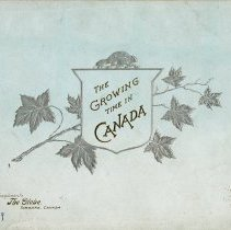 Image of The Growing Time in Canada, front cover