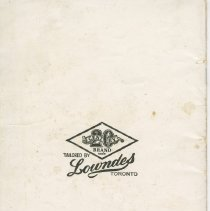 Image of Dress Catalogue, F.R. Barber, Port Elgin, back cover