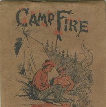 Image of Camp fire note book of Roy Gingrich, front cover