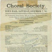 "Image of A960.071.001 - Choral Society ""Pinafore"" programme"
