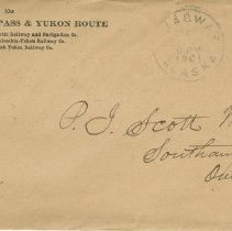 Image of Envelope to Dr. P.j. Scott, May 1901, front