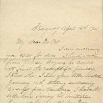 Image of Letter to Dr. P.j. Scott, Apr. 15, 1901, page 1