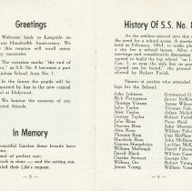 Image of Souvenir of S.S. No. 8 Kinloss, pages 2-3