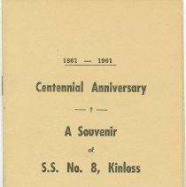 Image of Souvenir of S.S. No. 8 Kinloss, front cover